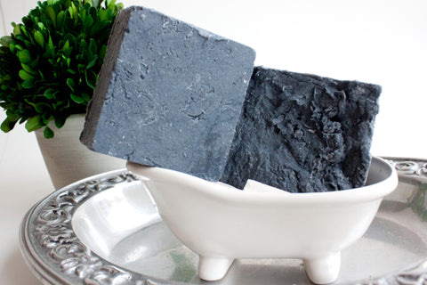 Men's Handmade Artisan  Sea Salt Soap Scrub Bar with Activated Charcoal