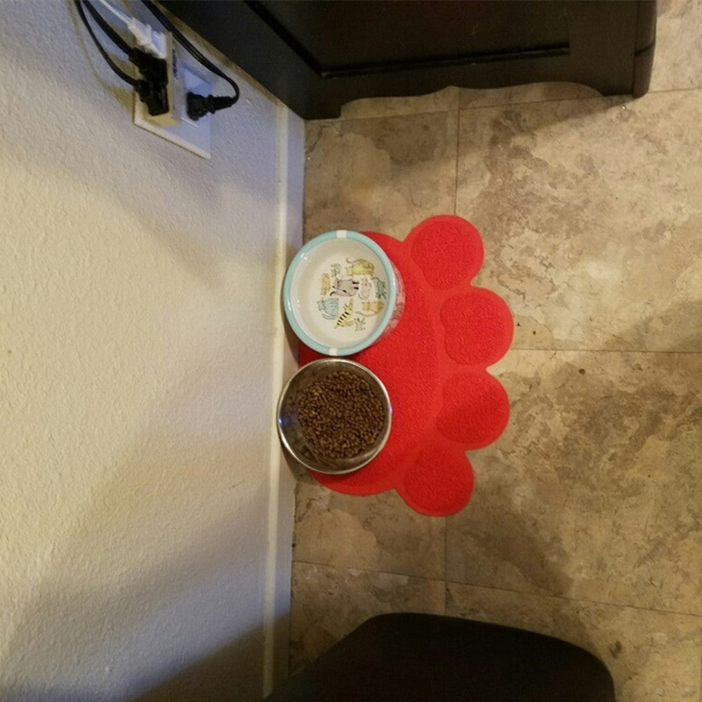paw bowl cat dish hyperion cute mat feeding pad pvc pet feed placemat dog food water products mats