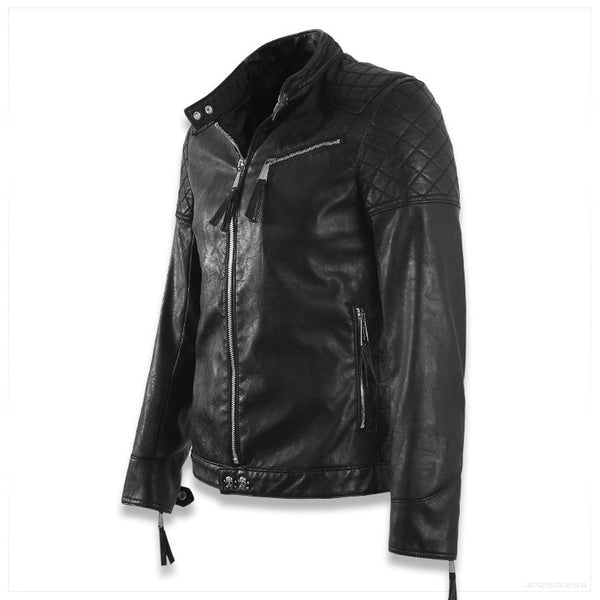 HIGH QUALITY SKULL LEATHER JACKET