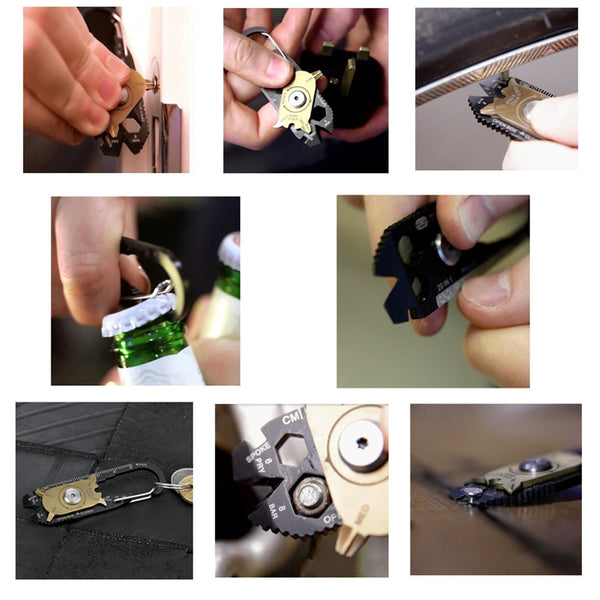 20 In 1 Outdoor Multitool Survival Key Organizer
