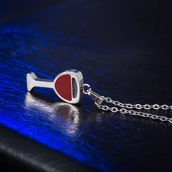Red Wine Glass Necklace
