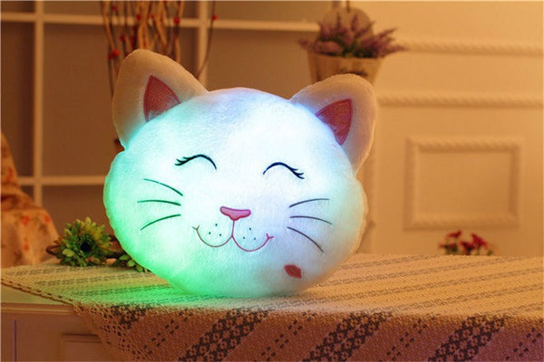 Light Up Cat Stuffed Pillow