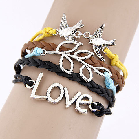 Christian Multilayer Leather Bracelet