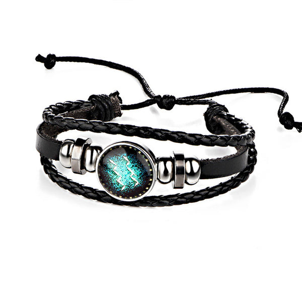 Constellation  Braided Leather Bracelets
