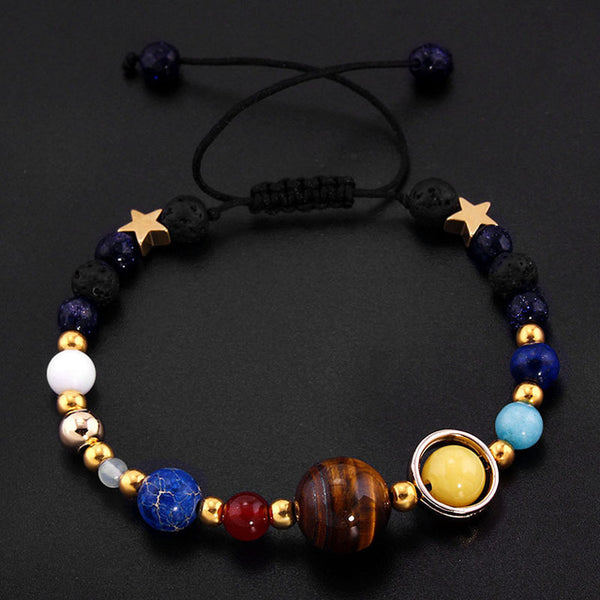 Eight Planets Stone Beads Bracelet