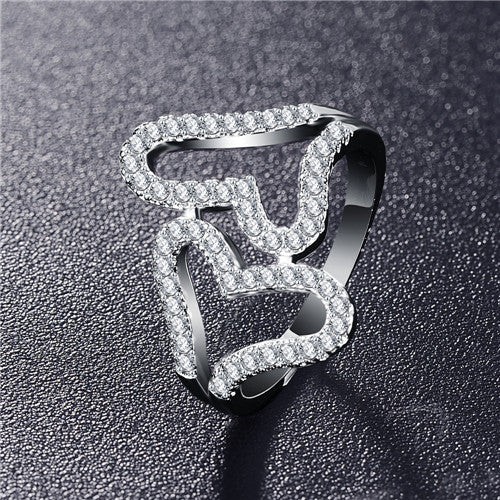 Double Letter X Shape Ring