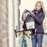 Foldaway backpack for cyclists with super reflection