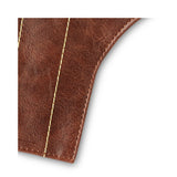 Quality Brown leather waterproof bicycle Seat Cover for rain