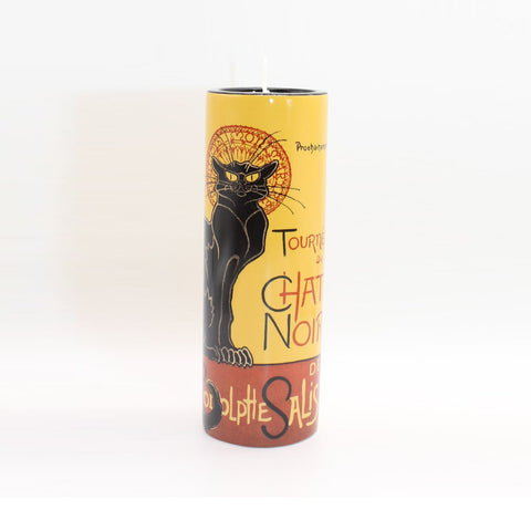 Ceramic Tea Light Steinlen Chat Noir
