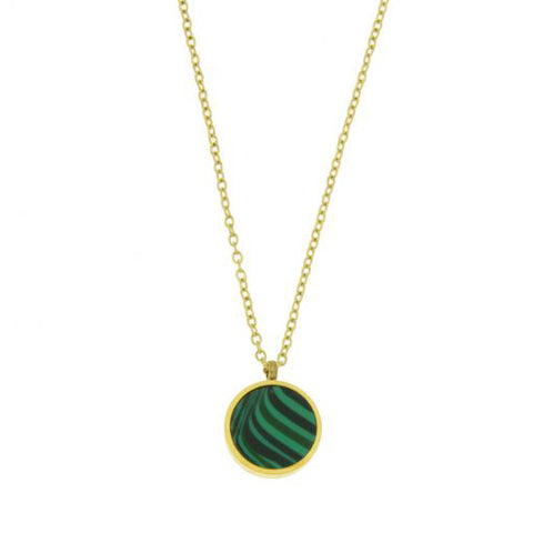 Les Cleias Necklace Malachite or Turquoise