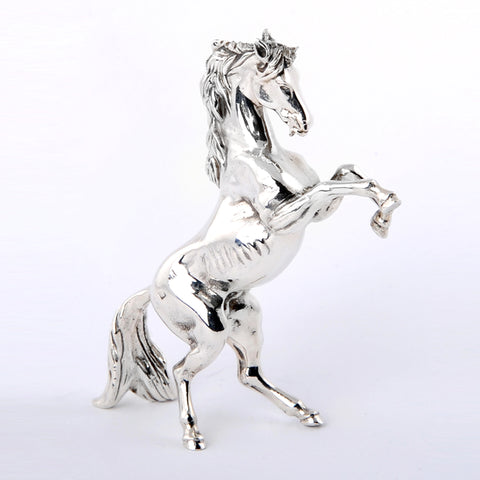 Pure Silver Arabian Standing Horse