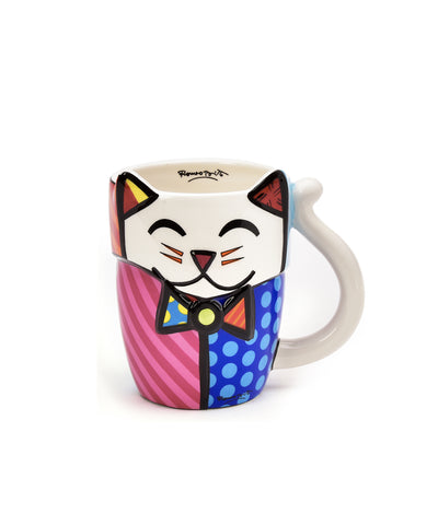 Romero Britto Figural Animal Mug - Cat