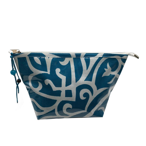 N Pouch Arabic Calligraphy Blue