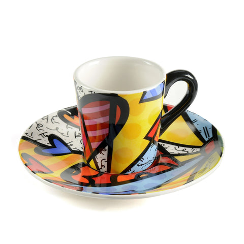 Romero Britto cup and saucer