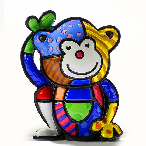 Romero Britto cheeky monkey figurine