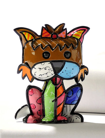 Romero Britto mini terrier figurine