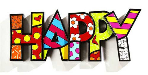 Romero Britto Word Happy