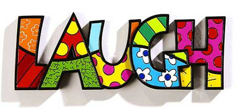 Romero Britto Word Laugh