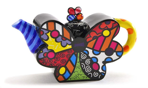 Romero Britto Mini Teapot Butterfly
