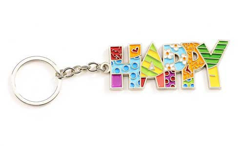 Romero Britto Keychain Happy