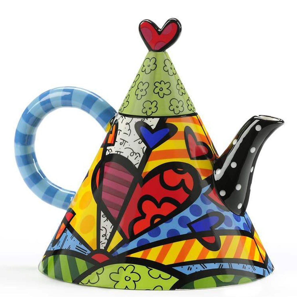 Romero Britto Ceramic Large Teapot Triangle - New Day