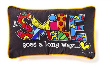 Romero Britto Pillow Smile