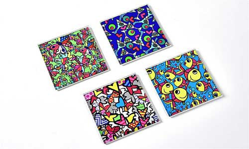 Romero Britto Coasters Set/4