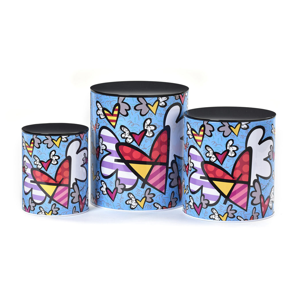 Romero Britto Tin Plated Canister Set of 3