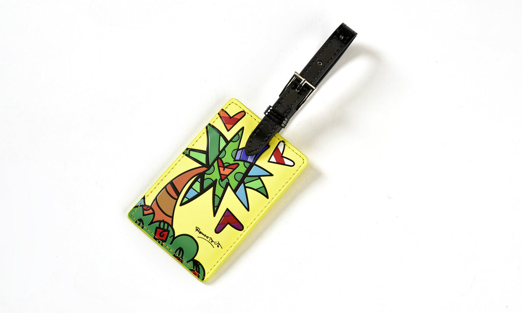 Romero Britto Luggage Tag- Palm Tree