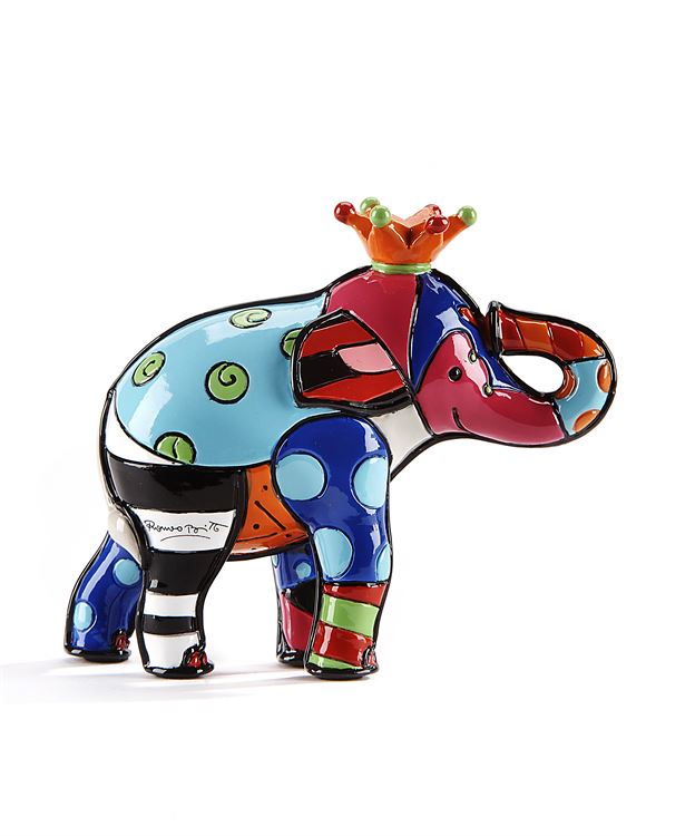 Romero Britto 3D Mini Figurine Elephant 3