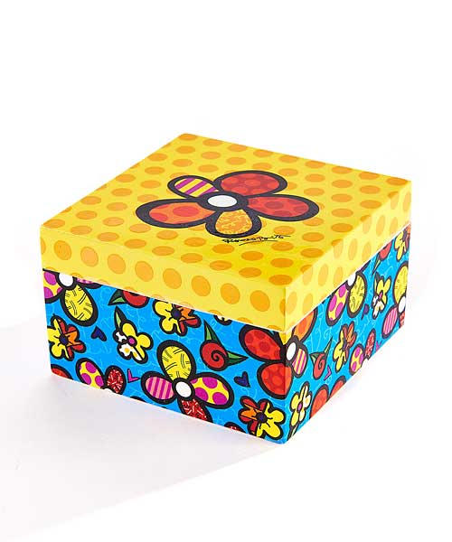 Romero Britto Square Trinket Box