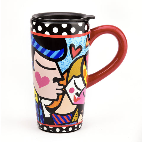 Romero Britto Mr & Mrs Travel Mug
