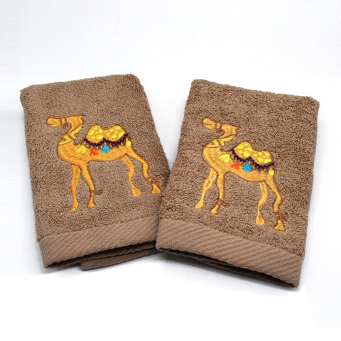 Guest Towels Camel Set of 2