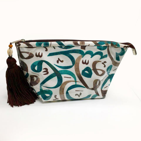 N Pouch Arabic Calligraphy Green