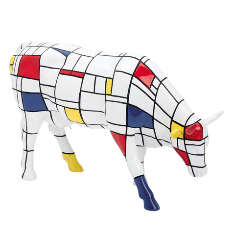 "Cow Parade Large "" Moondrian"""