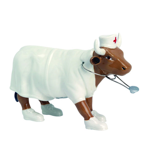 "Cow Parade Medium ""Nurse Nighthencow"""