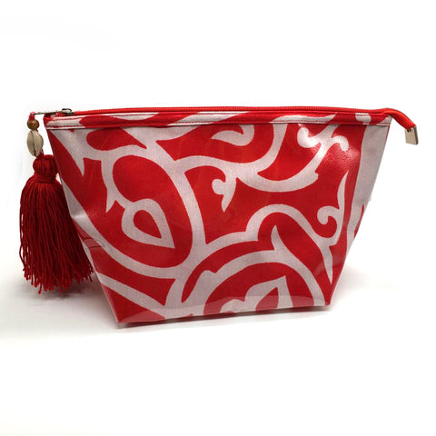 Noura Red Pouch Arabic Design