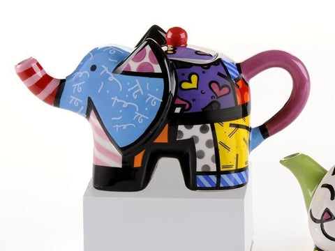 Romero Britto Mini Teapot Elephant