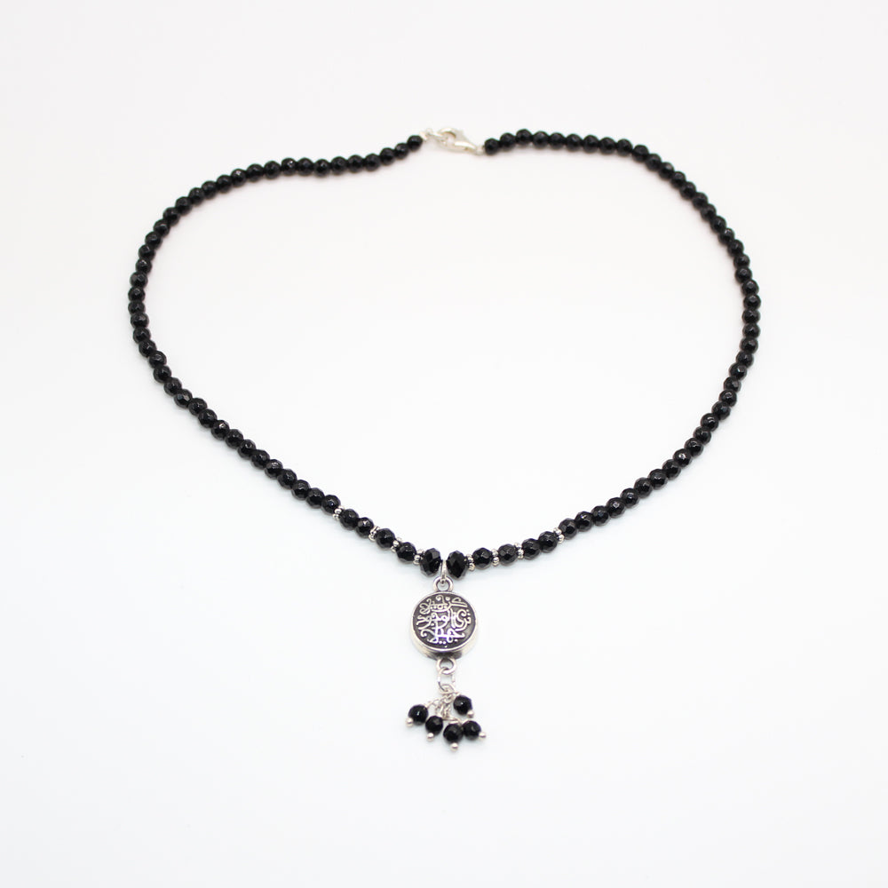 Arabian Silver Necklace with Faceted Onyx in Abu Dhabi