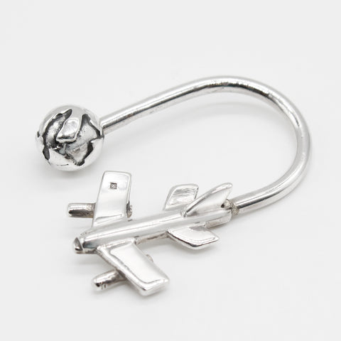 Pure Silver Keychain Aircraft Design