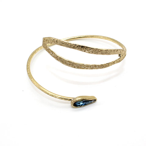 Opus Bangle Bronze Leaf Design with Crystal