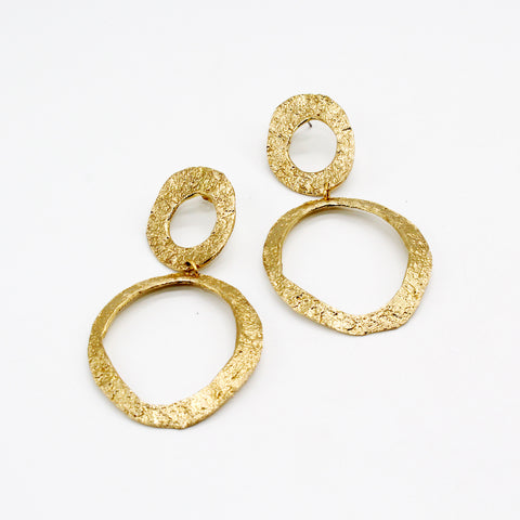 Opus Earrings Bronze Rounds