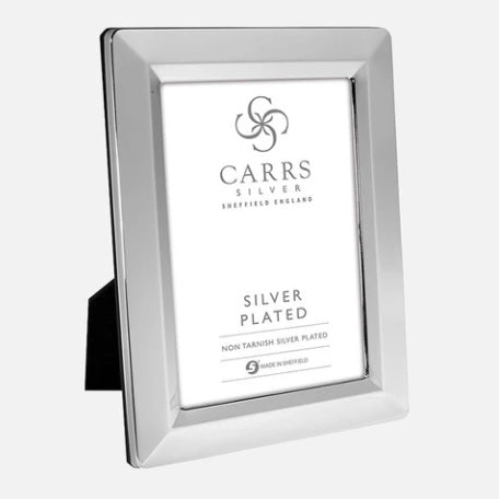 Linear Silver Plated Photo Frame Black Wood Back
