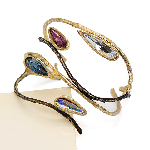 Opus Bangle with Four Crystals