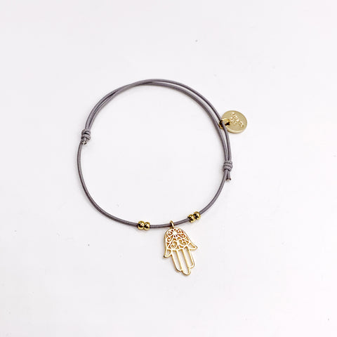 Les Cleias Bracelet with Fatima Hand Dangling