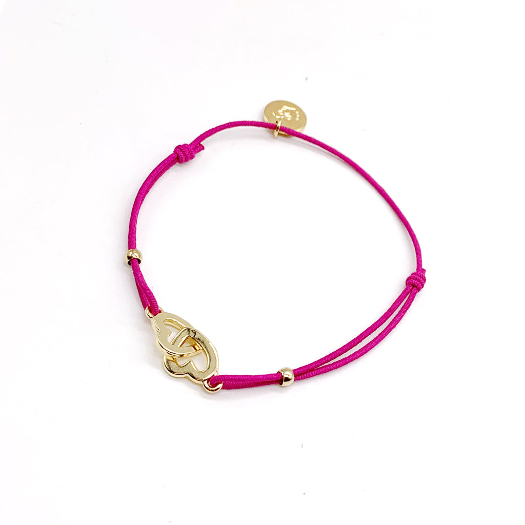 Les Cleias Bracelet Two Hearts