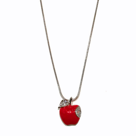 Fashion Necklace Apple with Zircon