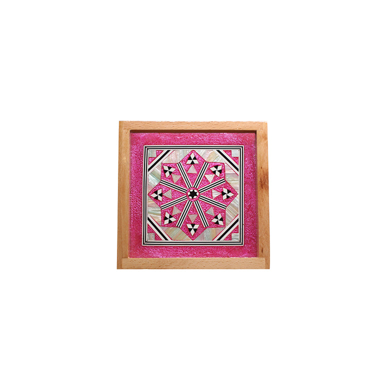 MOP Tray Square Small Fushia