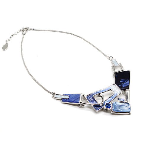 Fashion Necklace with Enamel and Crystal