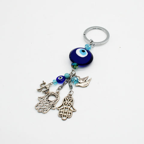 Keychain Evil Eye with Charms